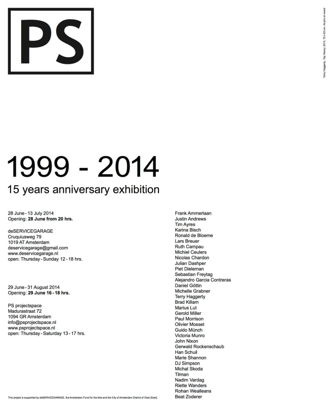 Group show of 30 artists celebrating 15 years of PS Gallery. Amsterdam